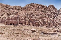 Koninklijke Graven van Petra stock fotografie
