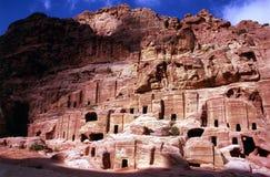 Koninklijke Graven van Petra royalty-vrije stock fotografie