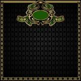 Koninklijke groene gouden achtergrond Royalty-vrije Stock Fotografie