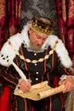 Koninklijke handtekening stock fotografie