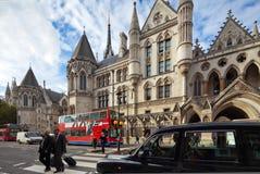 Koninklijke Hof van Justitie. Bundel, Londen, het UK Stock Foto's