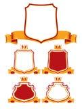 Koninklijke klassieke emblemen. Stock Afbeeldingen