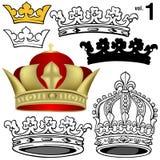 Koninklijke Kronen vol.1 royalty-vrije illustratie