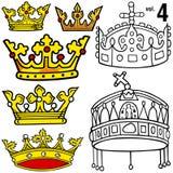 Koninklijke Kronen vol.4 Royalty-vrije Stock Afbeeldingen