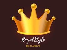 Koninklijke kroontoekenning voor winnaar, leiding, kampioen, gebeurtenis, festi Stock Afbeelding