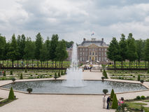 Koninklijke Loo van paleishet in Nederland Royalty-vrije Stock Foto