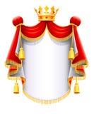 Koninklijke majestueuze mantel met gouden kroon Royalty-vrije Stock Fotografie