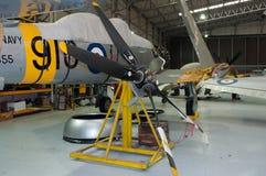 Koninklijke Marineventer Sea Fury T 20 herstelde WG655 royalty-vrije stock foto's