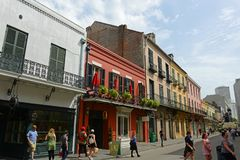 Koninklijke Straat in Frans Kwart, New Orleans royalty-vrije stock foto