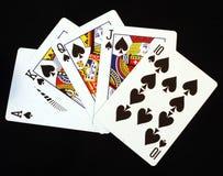 Koninklijke Vloed in Spades Royalty-vrije Stock Afbeelding