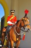 Koninklijke wacht die op paard het paleis bewaakt Royalty-vrije Stock Afbeeldingen
