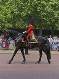 Koninklijke wacht, het Verzamelen zich van de Kleur, Londen Stock Foto's