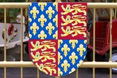 Koninklijke wapens van Engeland en Frankrijk Royalty-vrije Stock Afbeeldingen