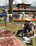 Koninkrijk van Bhutan - Drogend Vlees royalty-vrije stock afbeelding