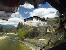 Koninkrijk van Bhutan - Paro Dzong - Klooster Stock Afbeeldingen