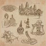 Koninkrijk van Kambodja - Hand getrokken vectorpak Stock Afbeelding