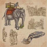 Koninkrijk van Kambodja - Hand getrokken vectorpak Royalty-vrije Stock Foto