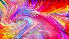 Koninkrijken van Vloeibare Kleur stock afbeeldingen