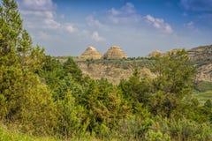 Konische Hügel in den North- Dakotaödländern Lizenzfreie Stockfotos