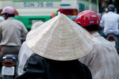 konisk hatt vietnam Arkivbild
