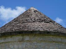 Koniskt tak arkivbild