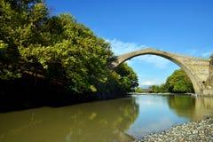 Konitsa bridge, Greece. Famous Konitsa bridge, Pindos, Greece Royalty Free Stock Image