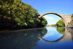 Konitsa bridge, Greece. Famous Konitsa bridge, Pindus, Greece Stock Photos
