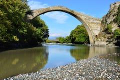 Konitsa bridge, Greece. Famous Konitsa bridge, Zagoria,  Greece Stock Photography