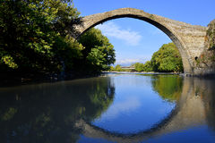 Konitsa bridge, Greece Stock Images