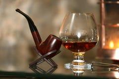 konjakexponeringsglas Fotografering för Bildbyråer
