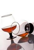 konjakexponeringsglas två Arkivbilder