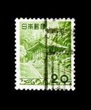 Konjiki-gör av den Chuson-ji templet - Iwate Pref , Serie 1952-59 för faunor, för flora och för nationella skatter, circa 1954 Arkivfoton