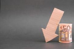 Konjunkturelle Abflachung Stockbilder