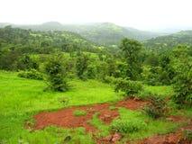Konkan landskap i vår Arkivfoto
