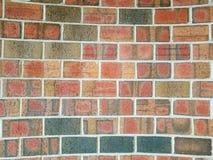 Konkav bakgrund för tegelstenvägg Royaltyfri Foto