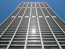 Konkaves Gebäude in Chicago Stockfotografie