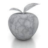 Konkret äpple för sten på vit bakgrund Arkivbild