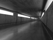 Konkret abstrakt arkitekturbakgrund mörk tunnel Royaltyfri Fotografi