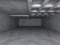 Konkret abstrakt arkitekturbakgrund Mörkt tomt stads- rum Arkivbild