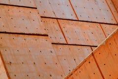 Konkret arkitektur med konkreta paneler Arkivfoton