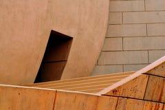 Konkret arkitektur med moment, kupolen och dörröppningen Arkivbilder