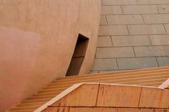 Konkret arkitektur med moment, kupolen och dörröppningen Royaltyfria Bilder