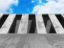 Konkret arkitekturbakgrund Abstrakt byggnadsdesign Fotografering för Bildbyråer