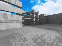 Konkret arkitekturbakgrund Abstrakt byggnadsdesign Royaltyfria Bilder