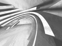 Konkret arkitekturbakgrund Abstrakt tomt mörkt rum stock illustrationer