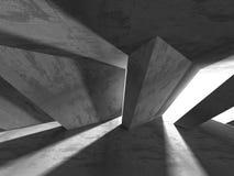 Konkret arkitekturbakgrund Abstrakt tomt mörkt rum Fotografering för Bildbyråer