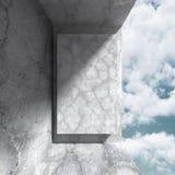 Konkret arkitekturbakgrund Modern desig för abstrakt byggnad Royaltyfria Bilder