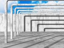 Konkret arkitekturbakgrund Modern desig för abstrakt byggnad Arkivfoton