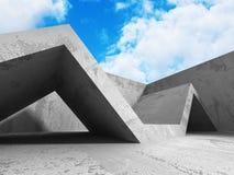 Konkret arkitekturbakgrund Modern desig för abstrakt byggnad Arkivbild