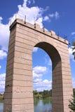 konkret förstärkt gammalt för bro Royaltyfri Foto
